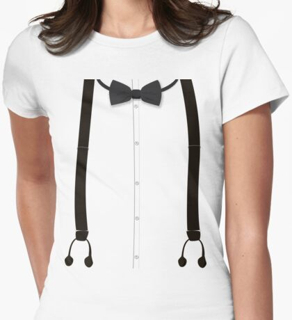 Victoriana - Bow Tie and Braces Womens Fitted T-Shirt