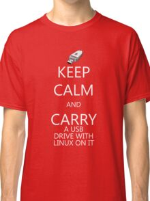 Keep Calm and Carry Linux Classic T-Shirt