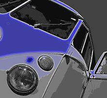 VW Split Screen Blue by Joe Stallard