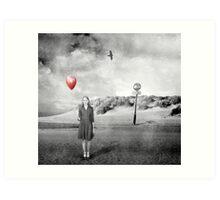 Girl With Red Balloon Art Print