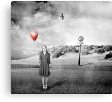 Girl With Red Balloon Canvas Print