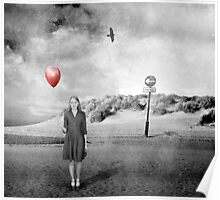 Girl With Red Balloon Poster