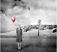 Girl With Red Balloon Photographic Print