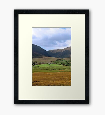 beautiful lush farm in ireland Framed Print