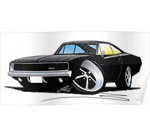 Dodge Charger Black Poster