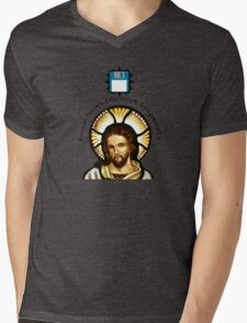 Jesus Saves (His work frequently) Mens V-Neck T-Shirt