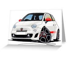 Fiat New 500 Abarth Greeting Card