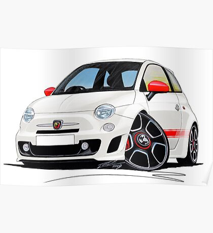 Fiat New 500 Abarth Poster