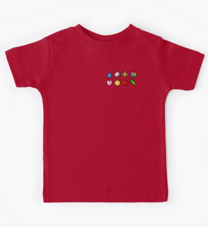 Pokemon Badge Sprites (Kanto Only) Kids Tee