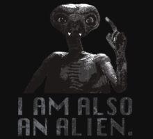 "Lisbeth's ""I AM ALSO AN ALIEN."" T-Shirt by moviebrands"
