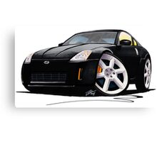 Nissan 350Z Black Canvas Print