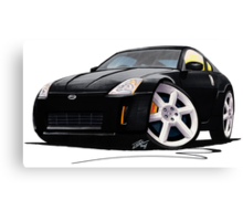 Nissan 350Z Black Canvas Print