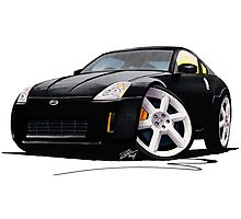 Nissan 350Z Black Photographic Print