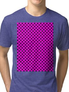 Basket Weave in Pink Tri-blend T-Shirt