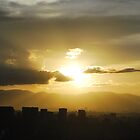 Guatemala city at sunset (2) by Marie Anne Hale