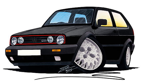 VW Golf GTi (Mk2) Black by Richard Yeomans