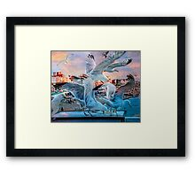 Seagulls on Brighton Pier Framed Print