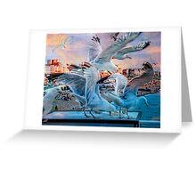 Seagulls on Brighton Pier Greeting Card