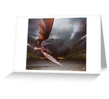 Smaug Burns Lake-Town Greeting Card