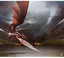Smaug Burns Lake-Town Photographic Print