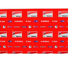 Ducati interview banner Photographic Print