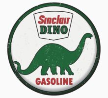 Sinclair Dino Gasoline vintage sign distressed by htrdesigns
