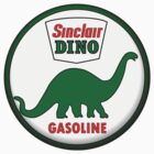 Sinclair Dino Gasoline vintage sign crystal vers. by htrdesigns