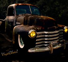 Chevy Hot Rat Rod Pickup Cowgirl's Last Stand  by ChasSinklier
