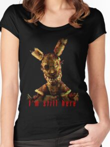 Springtrap Five Nights At Freddy's Women's Fitted Scoop T-Shirt