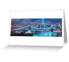 New York City - A Tribute Night in Light Greeting Card