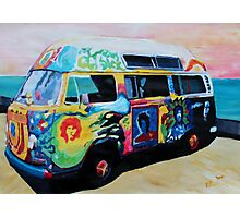 Surf Bus Series:  Here Comes the Sun Surf Bus Photographic Print
