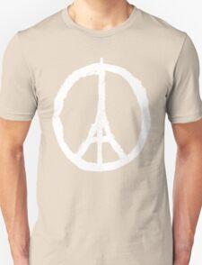 Paris Peace Symbol - Black T-Shirt