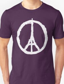 Paris Peace Symbol - Black T-Shirt