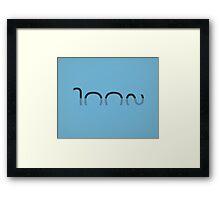 Loch Ness Typo Framed Print