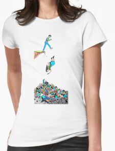 Death By Text (unframed) by Drenco Womens Fitted T-Shirt