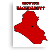 Who's Your Bagdaddy? (Red) Canvas Print