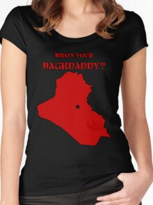 Who's Your Bagdaddy? (Red) Women's Fitted Scoop T-Shirt
