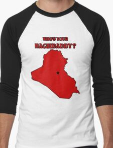 Who's Your Bagdaddy? (Red) Men's Baseball ¾ T-Shirt
