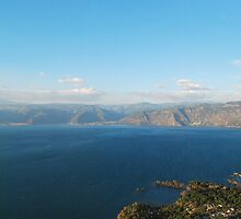 View of Atitlan from Cerro de Oro by Marie Anne Hale