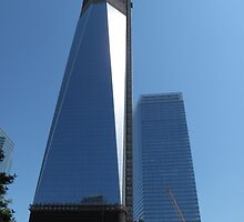 View of Freedom Tower from the Memorial Gardens by TedT