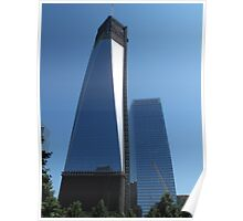 View of Freedom Tower from the Memorial Gardens Poster