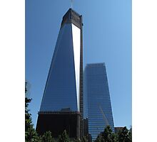 View of Freedom Tower from the Memorial Gardens Photographic Print