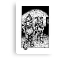 Mask Zombies Canvas Print