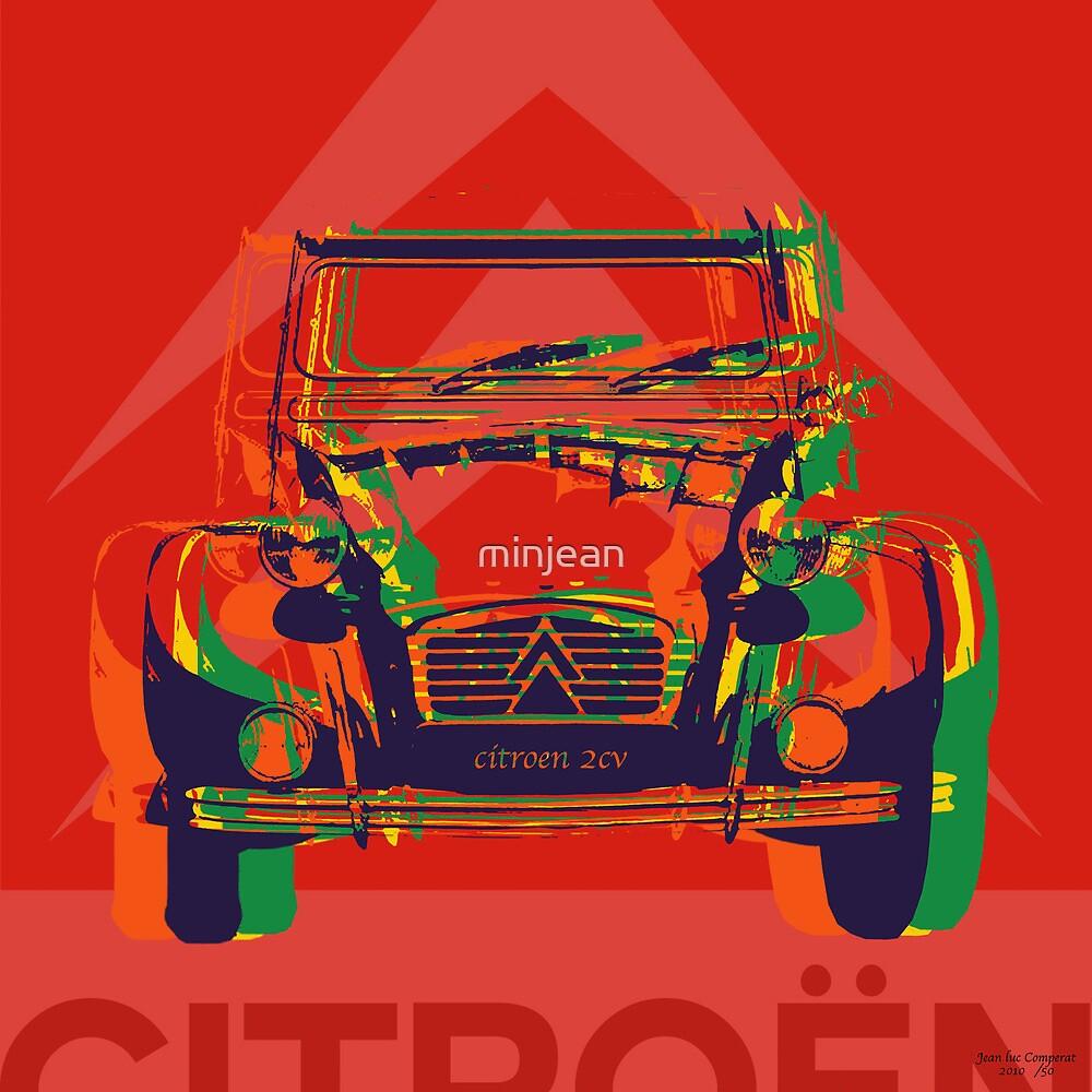 Custom pop art - Citroen 2CV by minjean