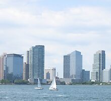Sail boats on the Hudson River by TedT