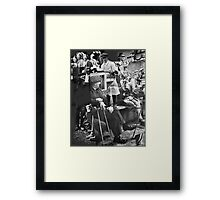 Down at the Dog & Duck. Framed Print