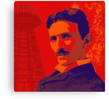 Nikola Tesla by popartworks Canvas Print