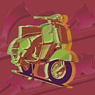 Custom pop art - Vespa by minjean