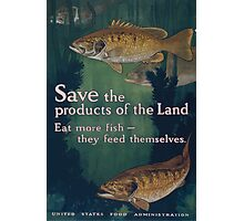 Save the products of the land Eat more fish they feed themselves United States Food Administration 002 Photographic Print