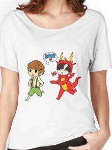 Hob!John and Smaug!lock Women's Relaxed Fit T-Shirt